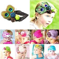 Baby Newborn Kids Toddler Cute Feather Headband Head Flower Headgear Photograph