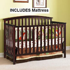 Convertible Crib 4-in-1 & BONUS Mattress Nursery Set ASSORTED Colors NEW