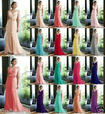 New V-neck Formal Party Ball Gown Bridesmaid Evening Dress Size 6-8-10-12-14-16+