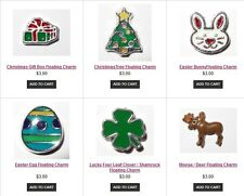 Holiday Christmas Floating Charms fit in Origami Owl Living Locket
