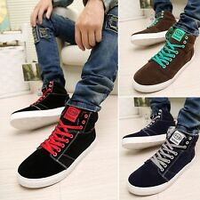 New Fashion Men's Korean Version Casual Suede High Top Skater Sneaker Shoes CX80