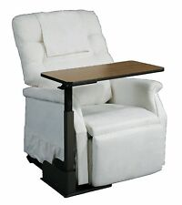 Overbed Adjustable Table Top Swivel Bed Recliner Chair Tray Side Medical Assist