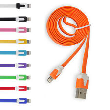 3ft/6ft/10ft Flat  USB Data Charger Sync Cables For iPhone 5S 5C 6 Plus Touch 5