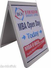 A-BOARD PAVEMENT SIGN MENU SANDWICH BOARD POSTER OR FULL COLOUR GRAPHICS NEW