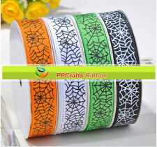 100yards Halloween Grosgrain Ribbon Parties Crafts DIY 10 Designs U Pick Color