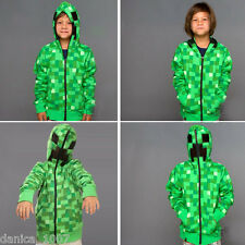 MINECRAFT CREEPER ZIP UP HOODIE OFFICIAL MERCHANDISE CHILDS, UK SELLER,FREE P&P