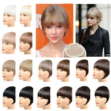 Straight Neat Bangs Fringe Synthetic Hair Extensions Clip in Hair Piece 32 Color