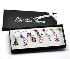 Christmas Wine Glass Charms - Pack of 6
