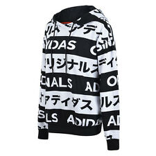 Adidas Originals Typo Monogram Japanese Katakana AA2489 Black/White Women Hoodie