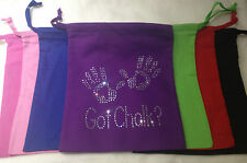 Gymnastics Hand guard Bag Pouch ( Personalised with Name available ) Rhinestones