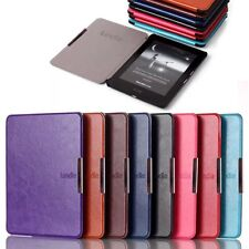 Crazy Horse Ultra Thin Smart Leather Folio Case Cover For Amazon Kindle Voyage