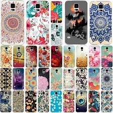 Top Fashion Various Paint Flower Hard Phone Case Cover For Samsung Galaxy S4 S5
