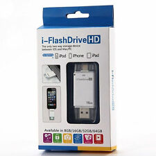 8/16/32G i-FlashDrive USB Disk 8pin Memory Stick Adapter For iPhone 5/5S 6 plus