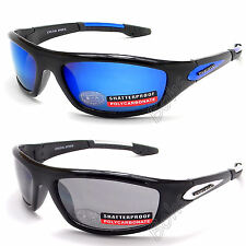 Mens Dark UV400 Eyelevel Sunglasses Sports Wrap Around Biker Mirror Black Shades
