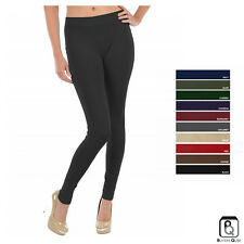 Women's Sofra Seamless Footless Fleece Leggings - Free Size - Color Choices