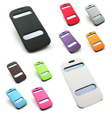 View Screen PU Leather Flip Case Wallet Pouch Cover For Samsung Galaxy S3 i9300