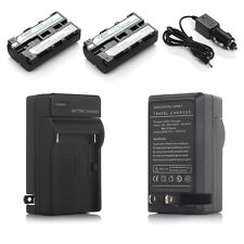 2600mAh Battery+Charger fr Sony NP-F550 NP-F330 NP-F570 NP-F750 NPF960 F970 F770