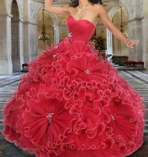 New Sweetheart with Hand Made Flowers Quinceanera Dress Party Gown Custom Made