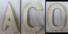 Vintage Large 3 ft.White Porcelain Steel Letters A,C,O
