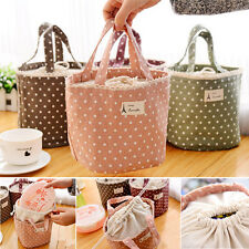 Portable Thermal Insulated Lunch Box Bag Tote Cooler Bento Picnic Pouch Storage
