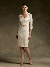 Champagne Lace Mother of the Bride dresses Formal Occasion Bridesmaids' Dresses