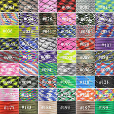 25-300FT 550 Paracord Parachute Cord Lanyard Mil Spec Type III 9 Strand Core