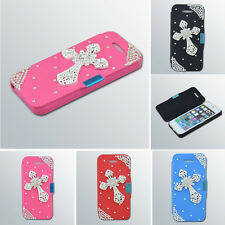 Diamond Cross Flip Leather Cover Case Skin Pouch Wallet For Apple iPhone 6 4.7""
