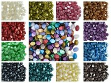CHOOSE COLOR! 50pcs 5x3.5mm Czech Glass Pinch Beads PASTEL COLORS, Pearl Coating
