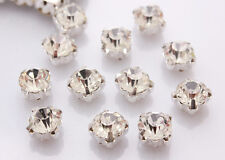 SZHA 1440 Pcs Sew-on Choose SS12 - SS20 Silver Cup Crystal A Rhinestone Sewing
