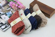 Five Pairs Women's Warm Wool Socks for Winter/Spring Floral Print 20% Off!