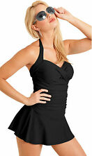 Carol Wior Swimsuit Front Shirring Swimdress and Miracle Slim Control NWT 229319