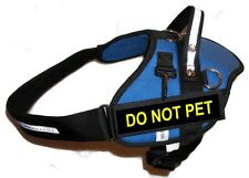 BLUE Professional Service Dog Harness / Vest Includes 2 'DO NOT PET' Badges