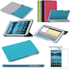 """Ultra Slim Folio Leather Case Cover For 8"""" HuaWei MediaPad T1 8.0 Tablet + Film"""