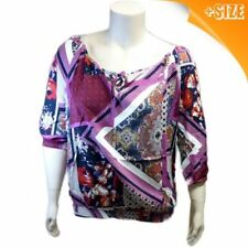 *NEW* Plus Size Autograph Women Purple Print Multi Top Shirt Blouse Size 14-26