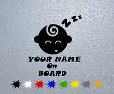 CAR STICKER PEGATINA DECAL VINYL BABY ON BOARD Personalized #1