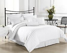 Canadian Bedding Items)- WHITE 1000TC 100%EGYPTIAN COTTON (SOLID&STRIPE)