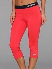 Wmns Nike Pro DriFit Training Capri Pants Fushia Red/Navy 637444 676