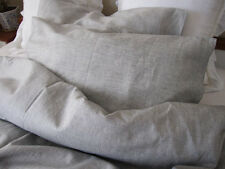 100% Pure Linen Bedding Set of Natural Grey/ Gray Color