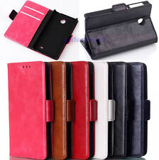 NEW Luxury Wallet Leather Card Holder Stand Case Cover For Nokia X Dual SIM A110