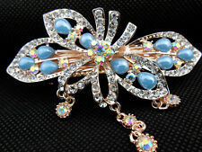 jewelry extension new girl hair barrette  clip crystal comb head bridal tiara