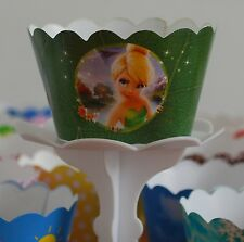 12 Girls/boys Movie charactor Cupcake Wrappers - WORLDWIDE FREE SHIPPING