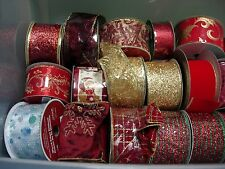 ** NEW PRICES 50% OFF**  NEW Rolls Christmas Holiday Decorator Wired Ribbon