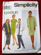 Misses Easy Jacket Top Pants & Skirt Simplicity 8518 Sizes 8 - 24