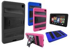 FOR AMAZON KINDLE FIRE HD 6 6-INCH DUAL LAYER HYBRID TABLET CASE W/ KICKSTAND