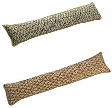 Tapestry Design Traditonal Draught Excluder Winter Door Cushion Guard Blue / Red