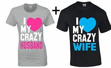 Couple T Shirt I Love My Crazy Husband Wife Valentine's Day Gift For Her him tee