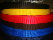 "1""/25mm POLYPROPYLENE WEBBING 2metre VARIOUS COLOURS many uses 45% OFF"