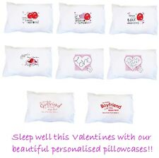 PERSONALISED PILLOW CASES Valentines Birthday gift present ideas for HER & HIM