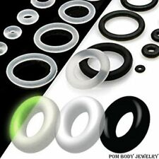 10 PCS Pack Black or Clear Rubber Band O-Rings Replacement Plugs Gauges Tapers