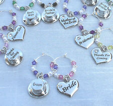 Wedding Table Decorations - Champagne  Wine Glass Charms Favours - DIY